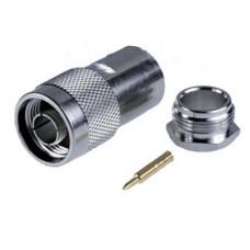 Разъем N-112B (2,4mm pin) N, вилка прижимная, RG-213(RG-8)